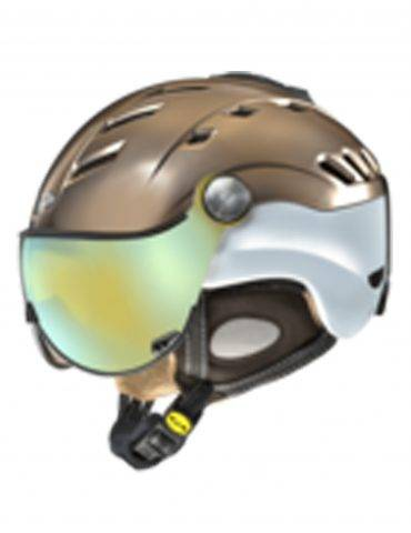 Bronze and white Visor Ski Helmet by CP