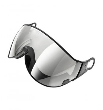 all in one ski helmet visor clear silver mirror