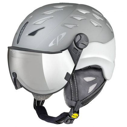 cuma ski helmet with visor gray