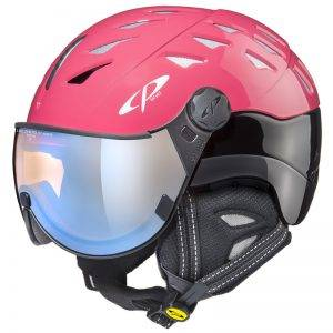 cp cuma red visor ski helmet woman
